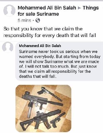 dreiging Suriname